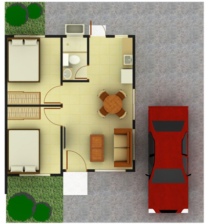 Claire House Model Floor Plan - Highview Hills, Apalit, Pampanga